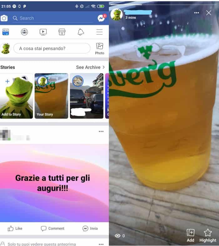 come vedere chi guarda le storie Instagram storie Instagram su Facebook