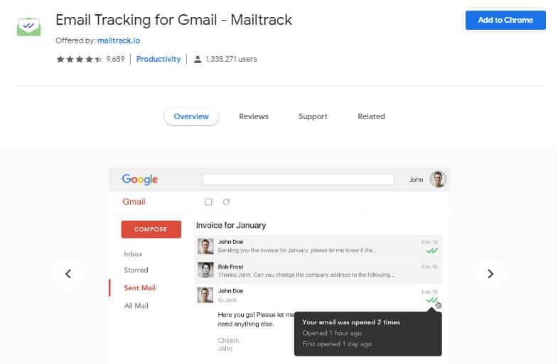 come vedere se un'email è stata letta Email Tracking for Gmail