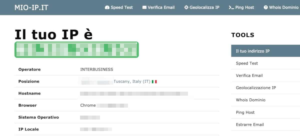 come vedere se un'email è stata letta indirizzo IP pubblico