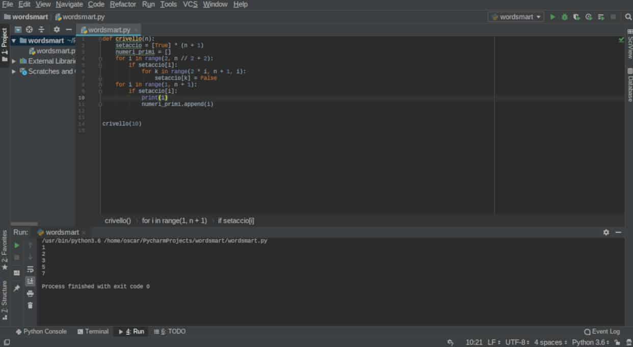 programmi per programmare in Python generatore numeri primi