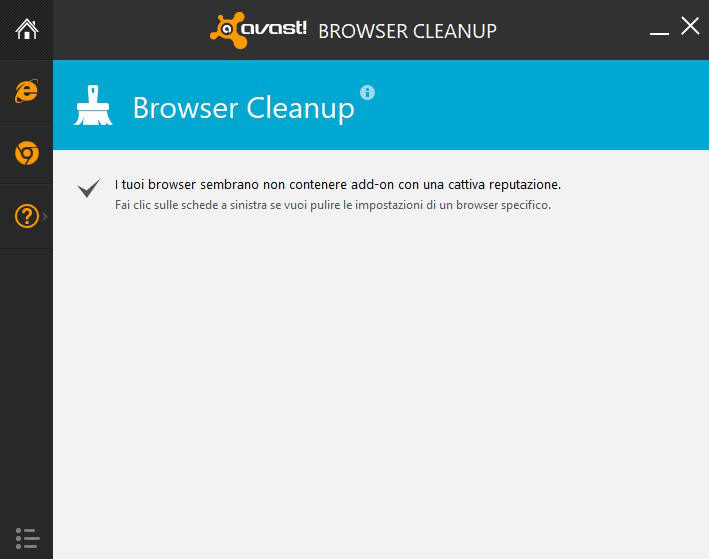 programmi per velocizzare internet Avast browser cleanup