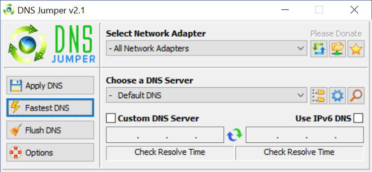 programmi per velocizzare internet DNS Jumper