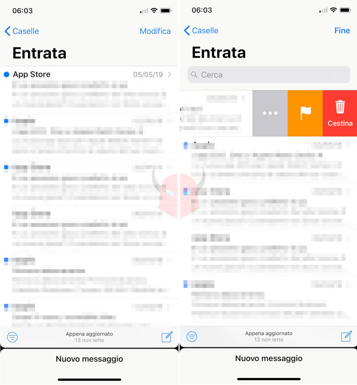 come bloccare le email indesiderate Mail per iOS