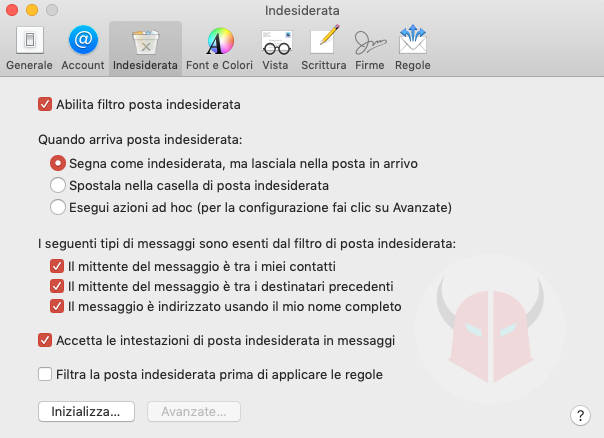 come bloccare le email indesiderate Mail per macOS