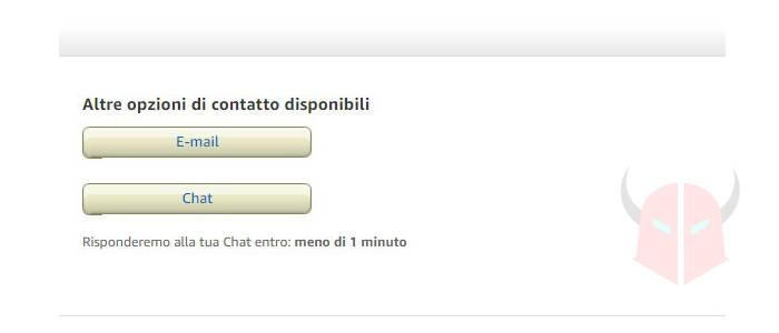 come contattare Amazon Italia email o chat