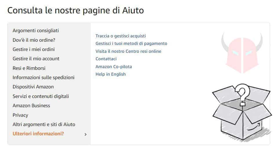 come contattare Amazon Italia email