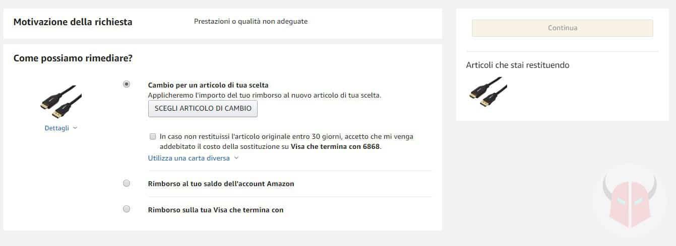 come contattare Amazon Italia sostituzione oggetto