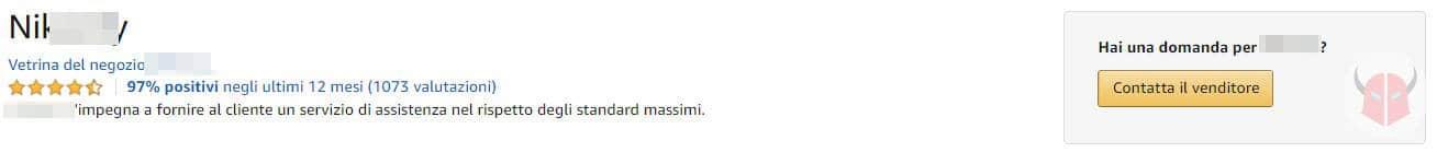 come contattare Amazon Italia venditore prima di un ordine