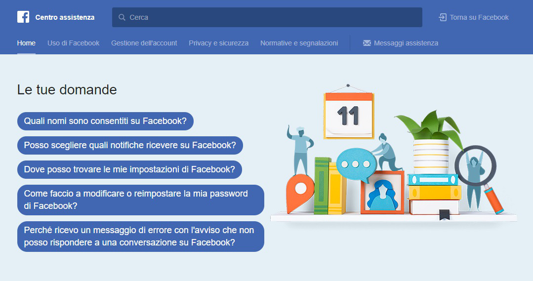 come contattare Facebook centro assistenza