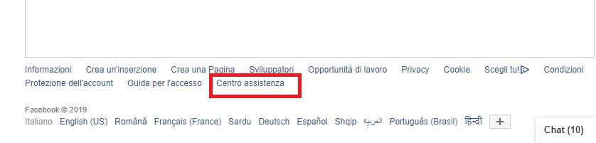 come contattare Facebook da PC