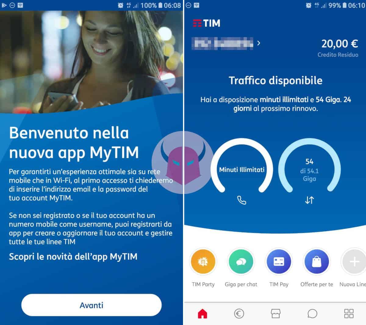 come controllare i giga di internet app MyTIM
