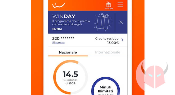 come controllare i giga di internet app Wind