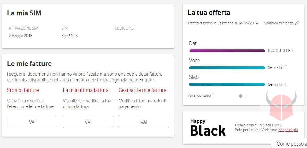 come controllare i giga di internet sito ufficiale Vodafone