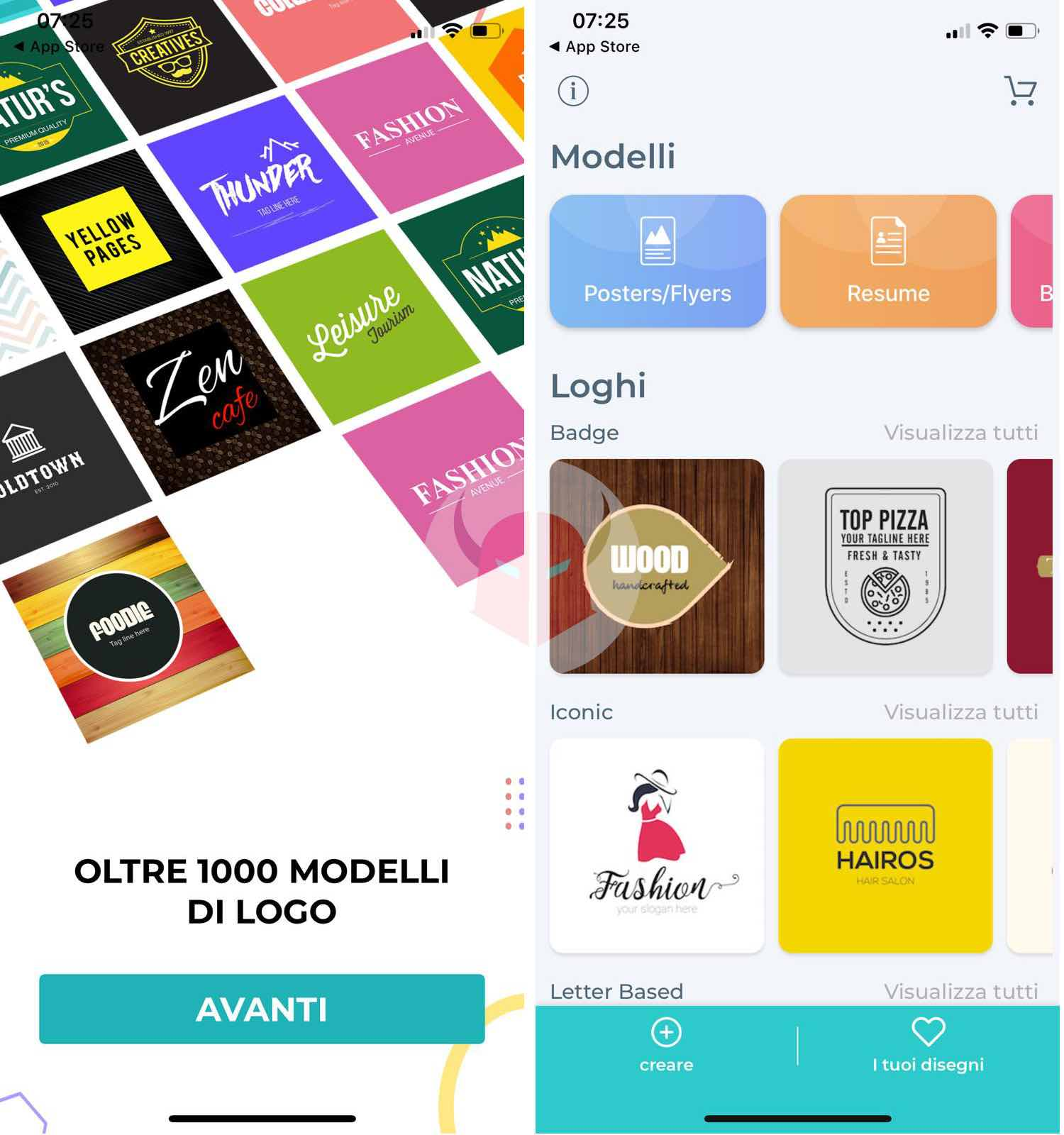 come creare un logo app Logo Maker iOS