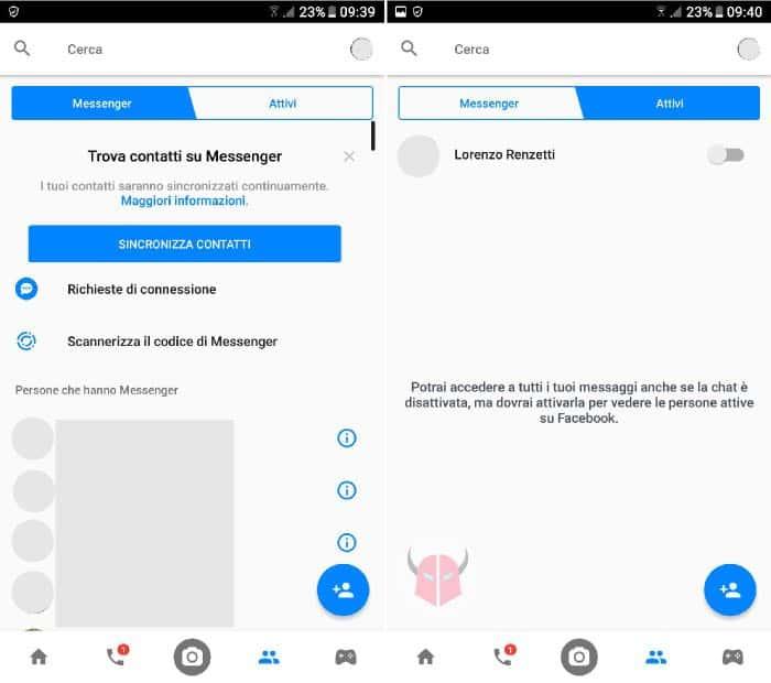 come eliminare account Facebook disattivazione Messenger cellulare