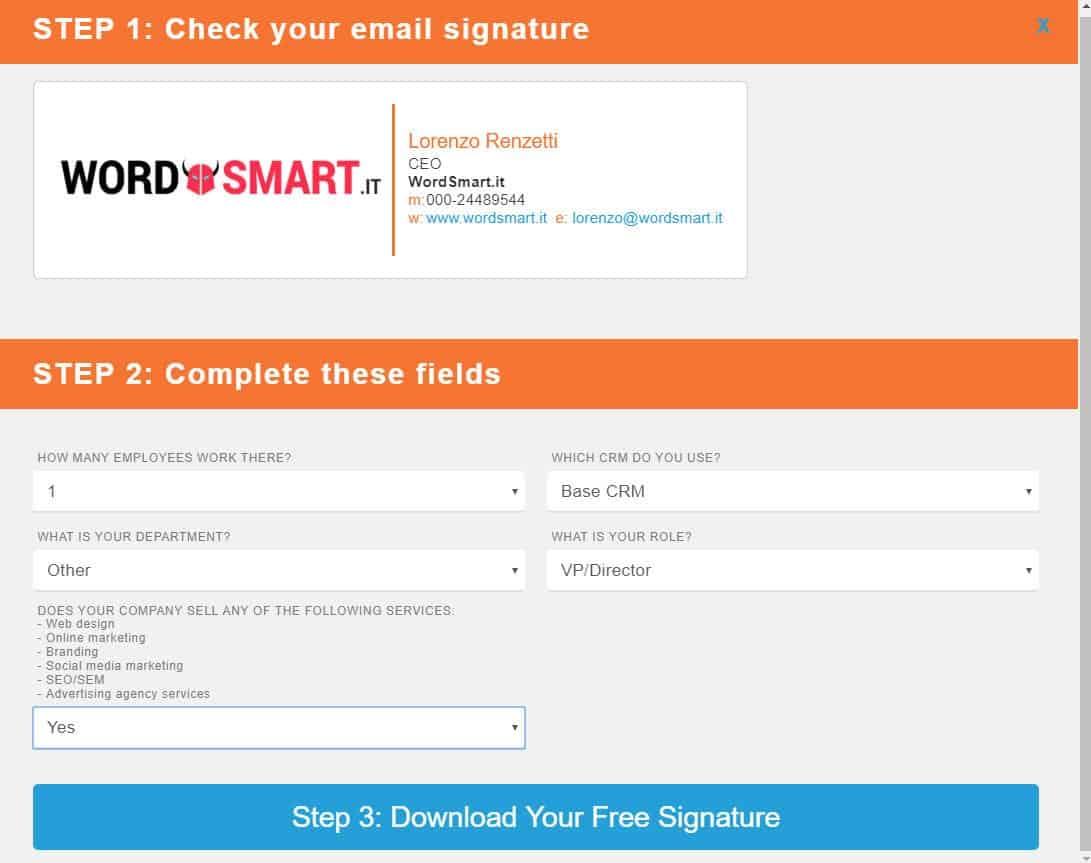 come inserire firma email HubSpot firma personalizzata
