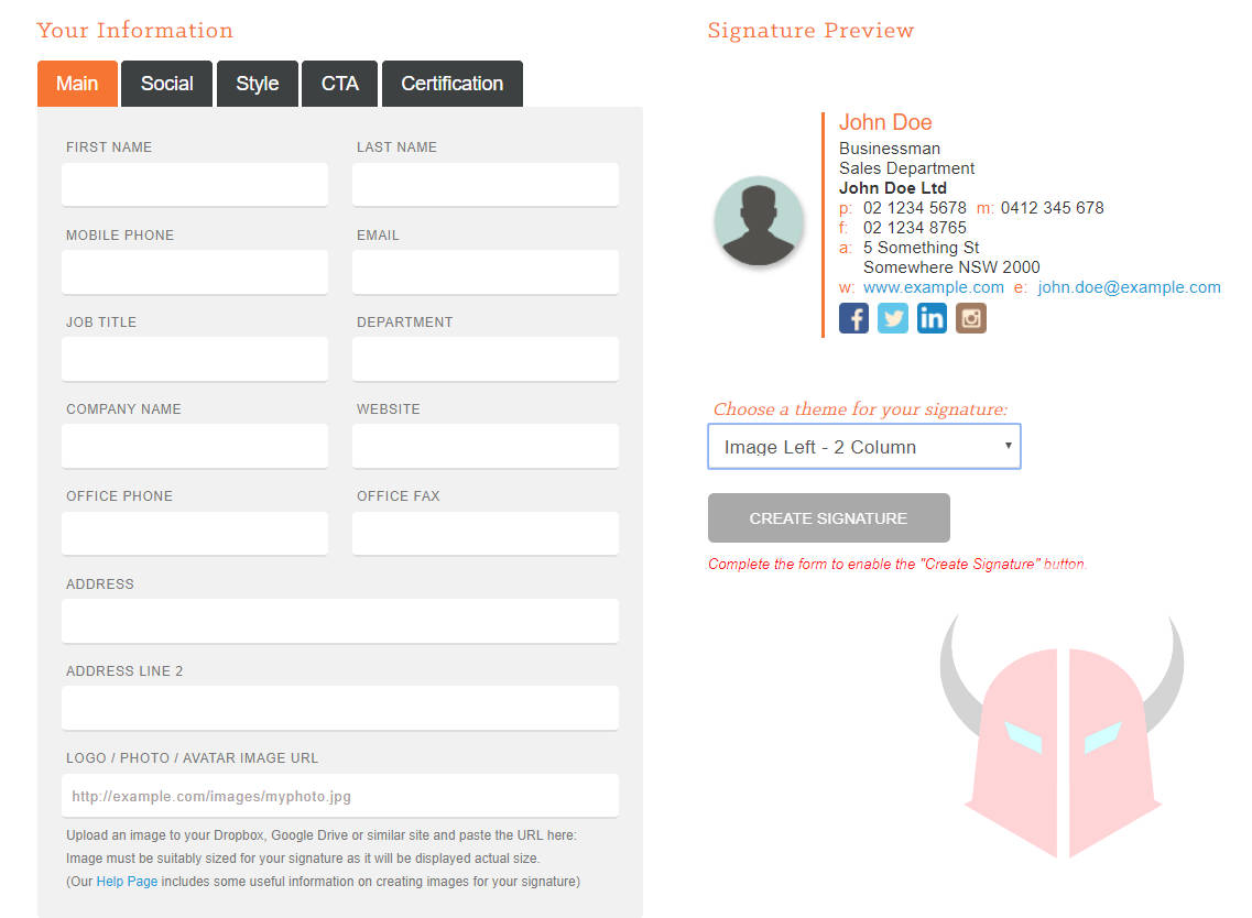 come inserire firma email HubSpot