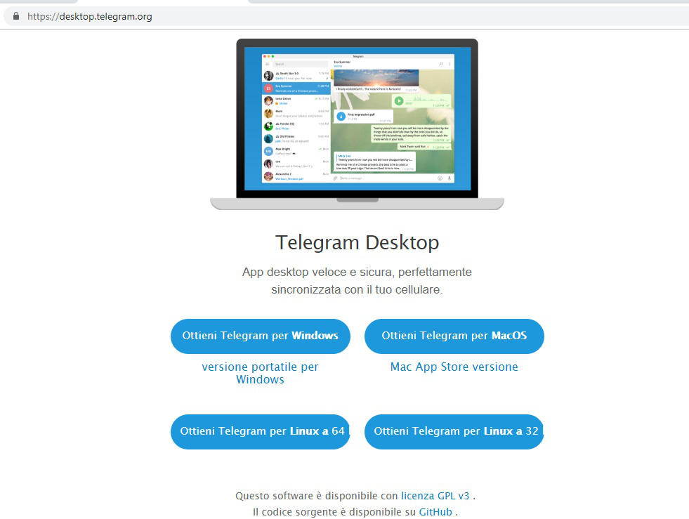 come installare Telegram su PC Telegram Desktop