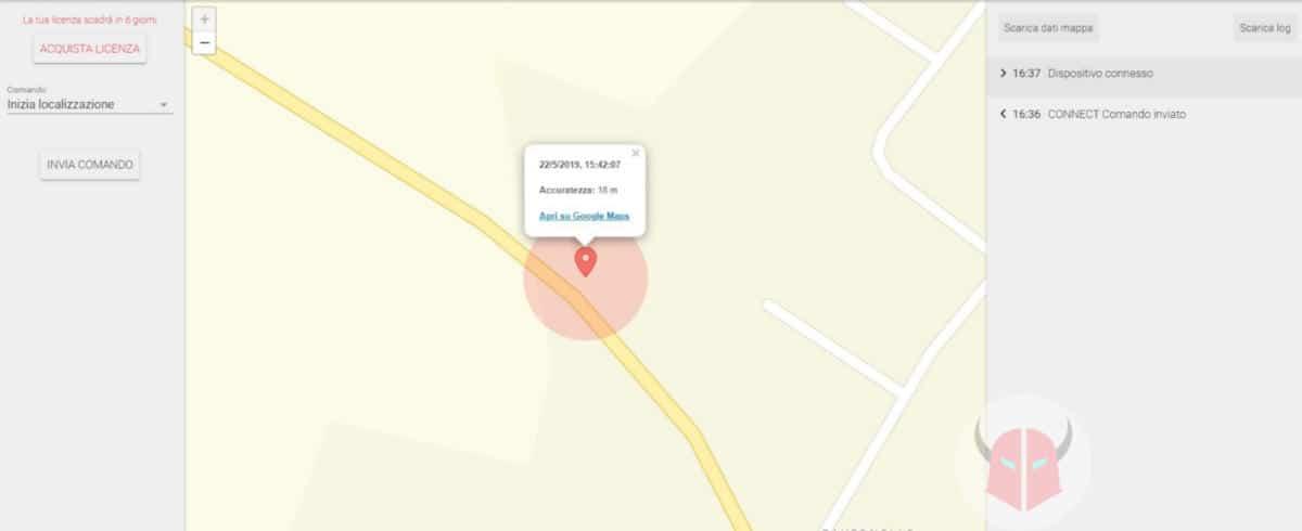 come localizzare un cellulare Android Cerberus