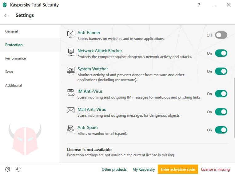 come non ricevere email antivirus antispam Kaspersky