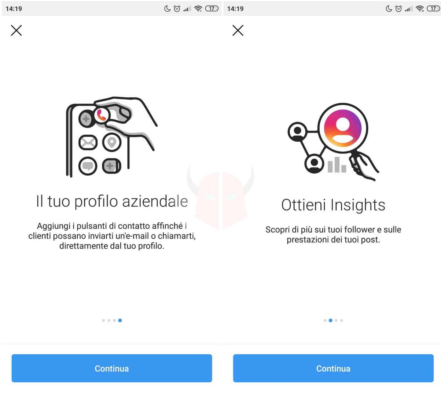 come passare a profilo aziendale Instagram da privato a business