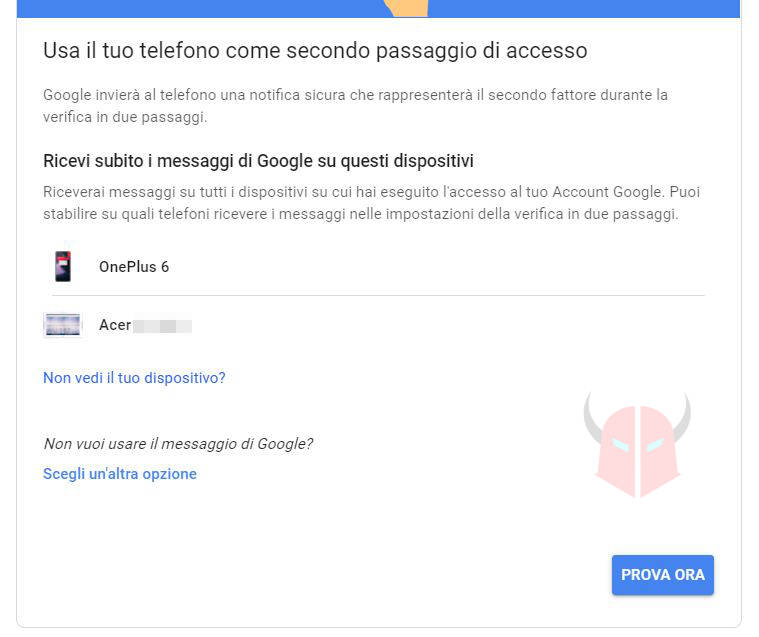 come recuperare password Gmail 2FA