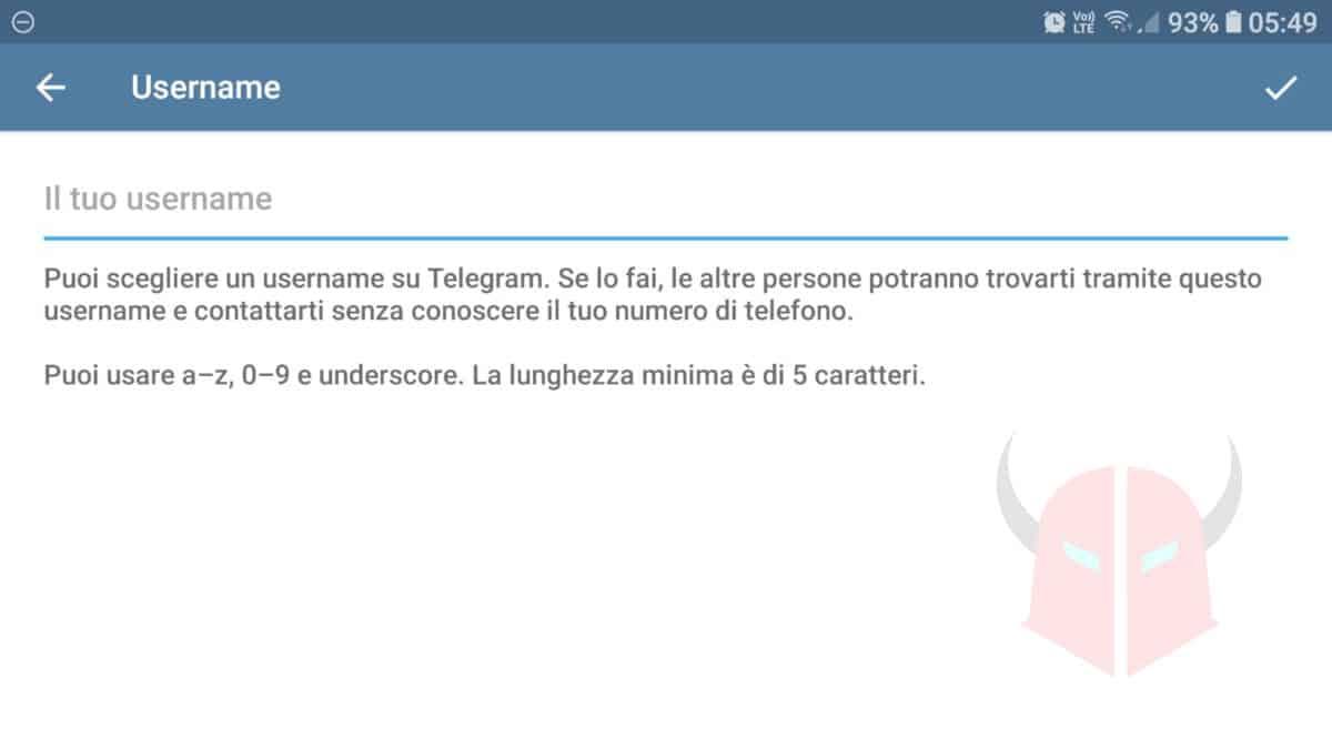 come usare Telegram anonimo eliminazione username