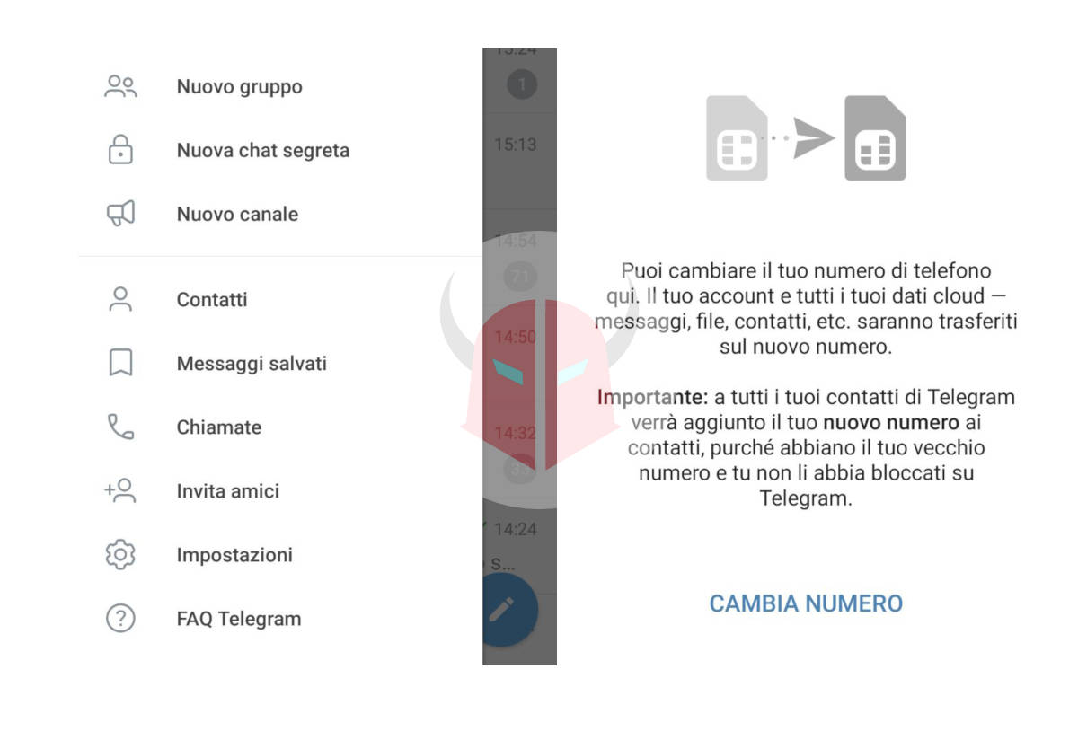 come usare Telegram cambio numero