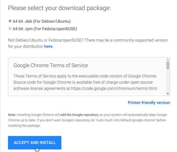 come aggiornare Google Chrome Ubuntu