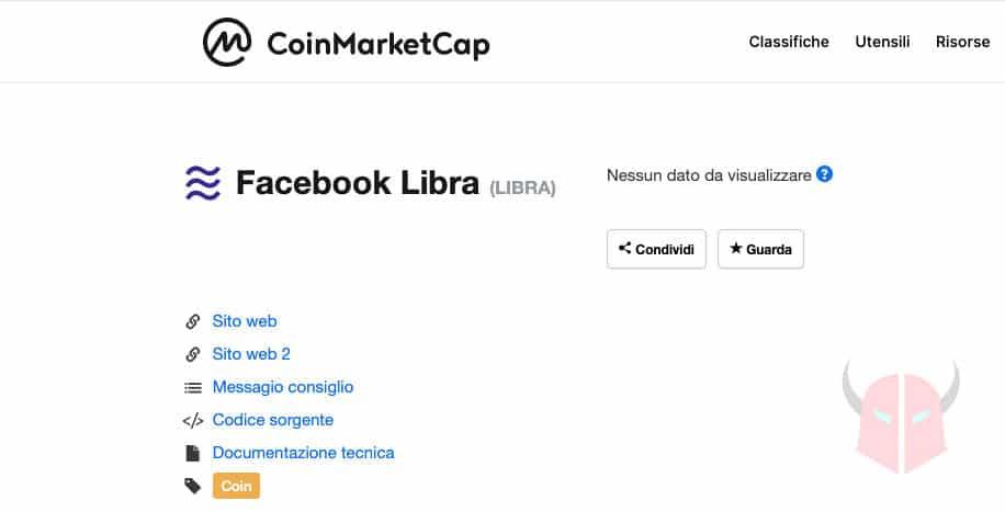 come comprare Facebook Libra valore CoinMarketCap