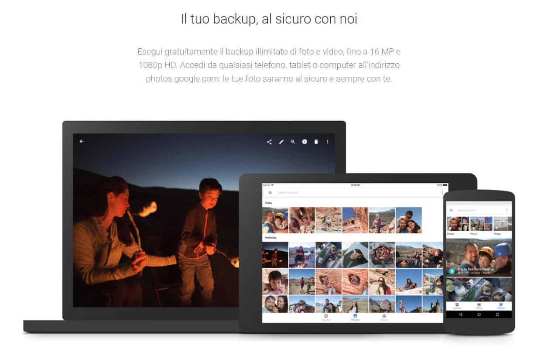 miglior cloud storage Google Foto