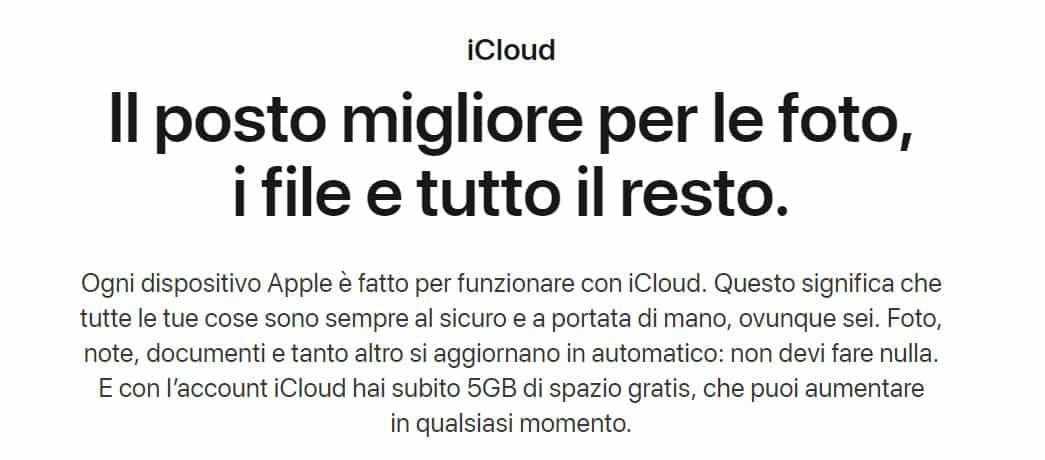 miglior cloud storage iCloud