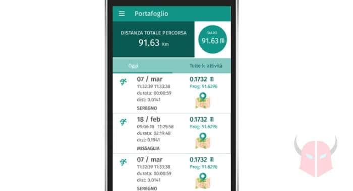 migliori app che ti pagano per camminare interfaccia MoveCoin