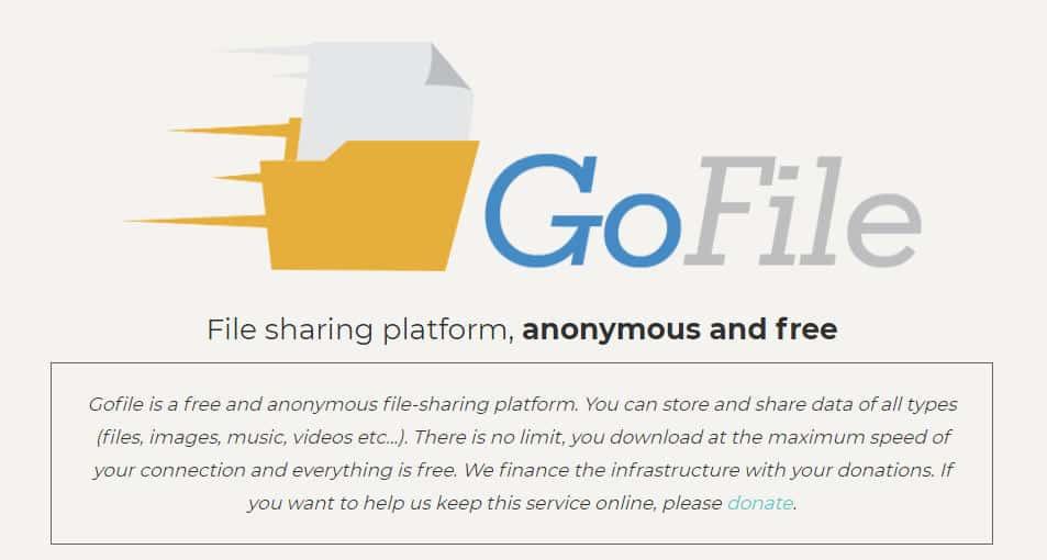 app per chat segrete GoFile