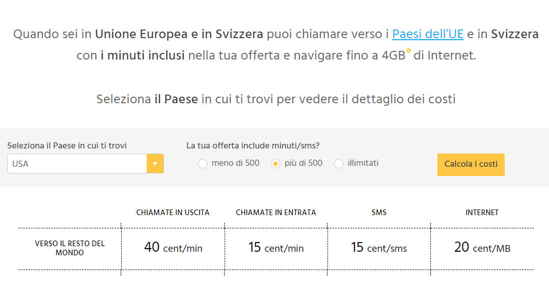 come navigare all'estero Fastweb