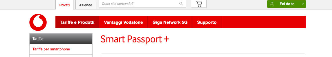 come navigare all'estero Vodafone Smart Passport plus