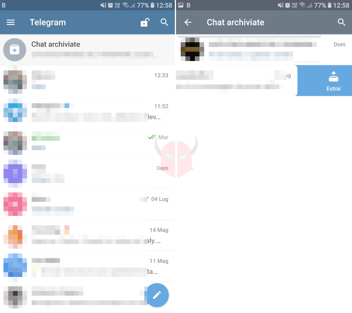 come recuperare chat Telegram archiviate