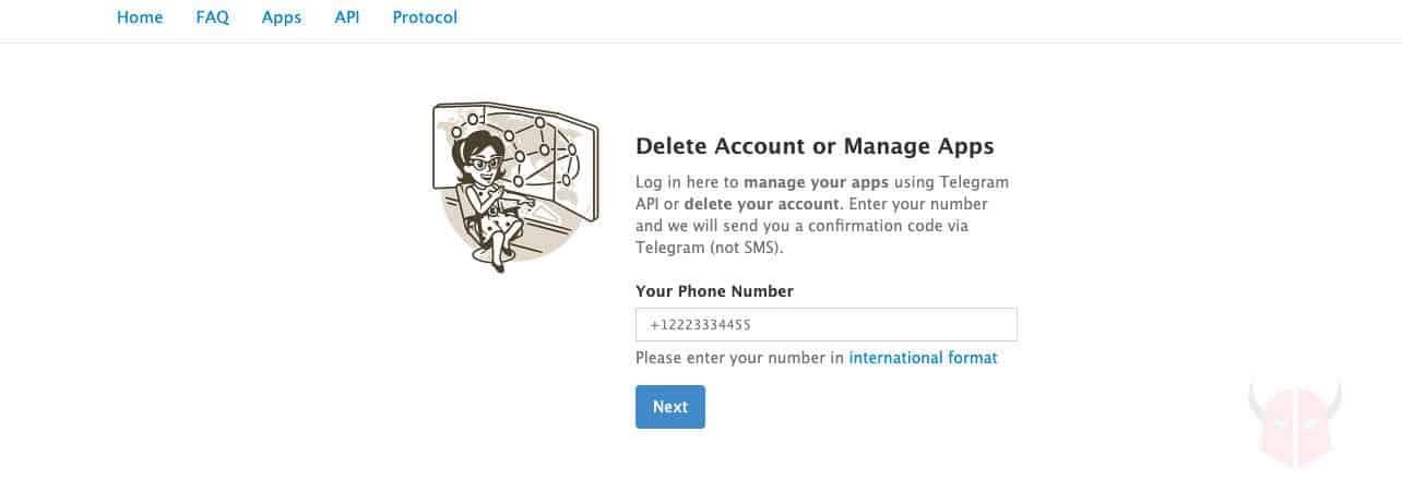 come uscire da Telegram eliminazione account pagina disattivazione