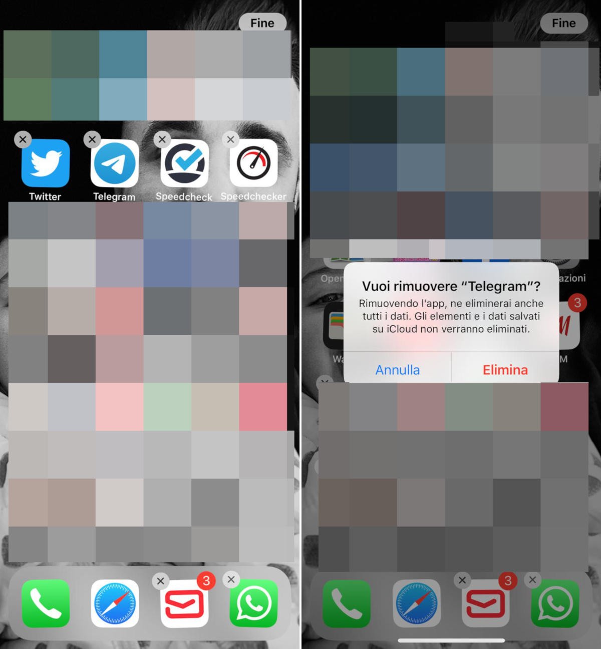 come uscire da Telegram iOS