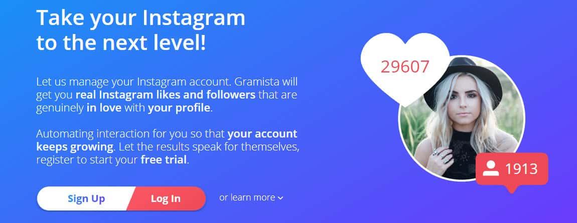 migliori app per hashtag Instagram bot Gramista