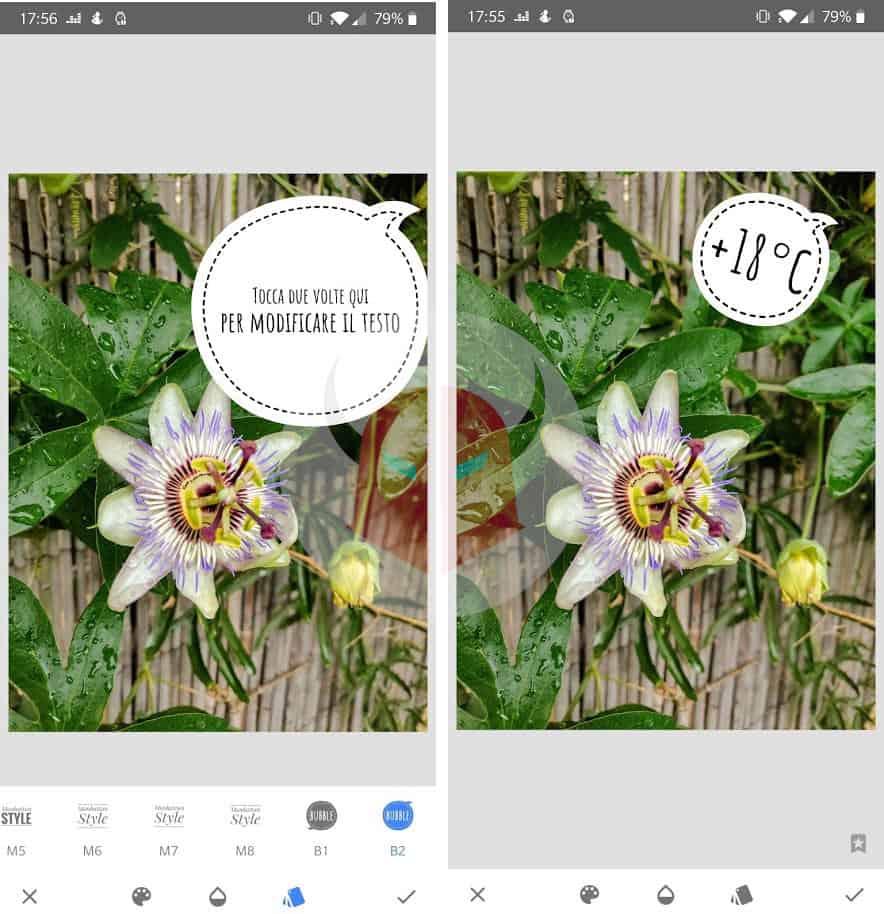 come mettere la temperatura su Instagram app Snapseed