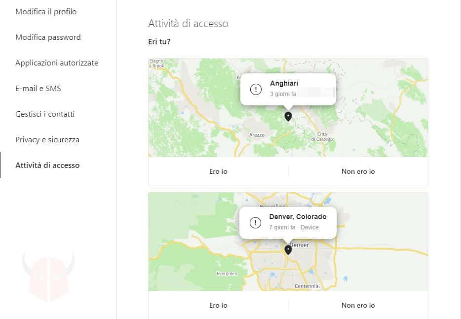 come riattivare Instagram visualizzazione accessi sulla mappa