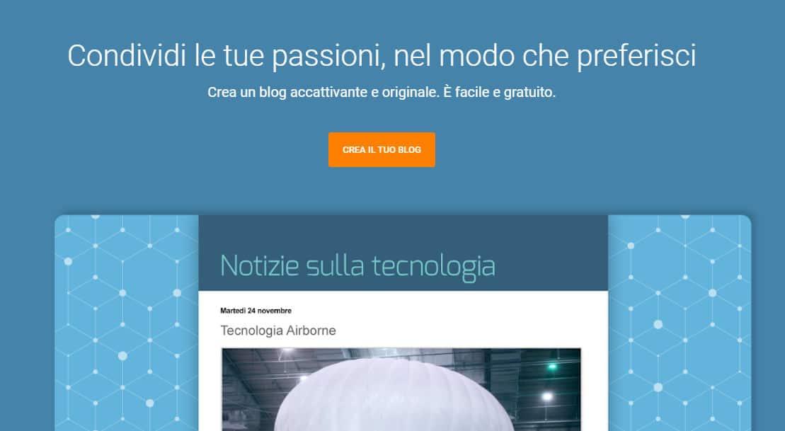 miglior hosting gratuito Blogger