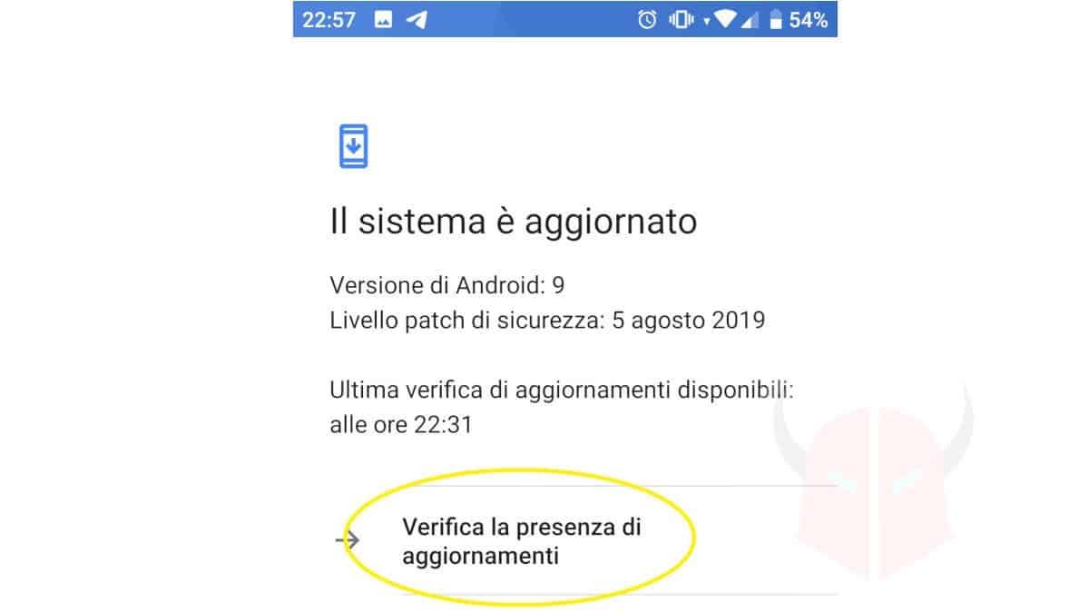 aggiornamento sistema operativo per risolvere siti che si aprono da soli su Android
