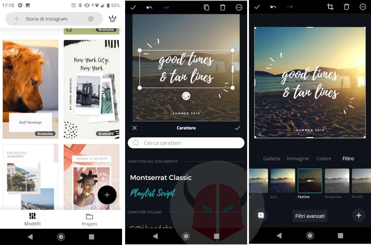 app per storie Instagram Canva
