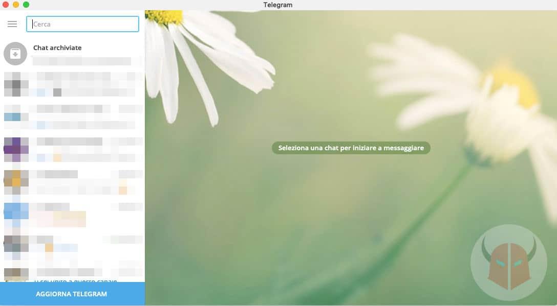 come aggiornare Telegram Desktop macOS