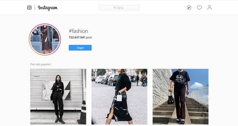 come diventare fashion blogger su Instagram esempio hashtag