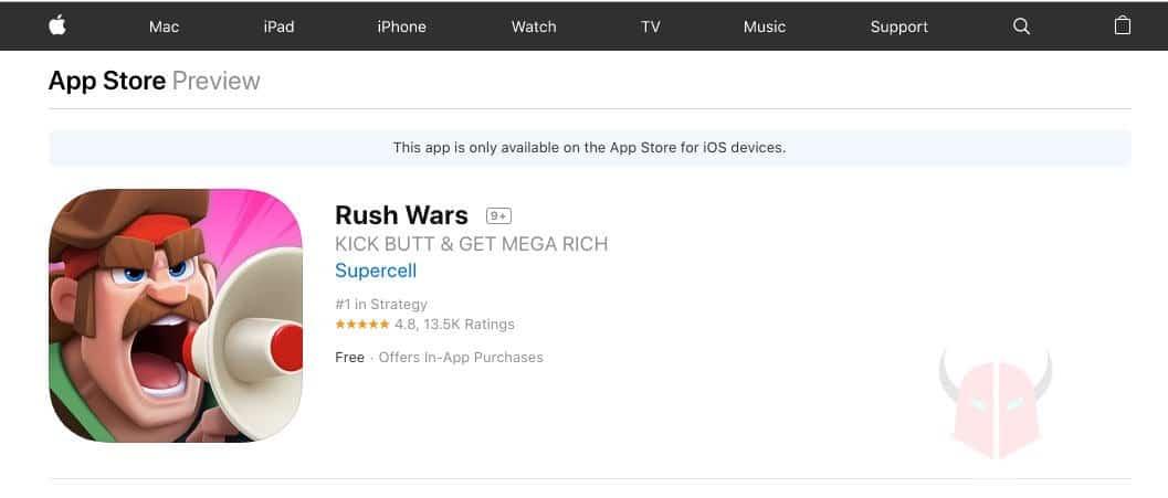 come scaricare Rush Wars su App Store con iOS