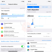 come scoprire se iPhone è hackerato Tempo di utilizzo