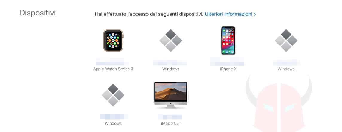 come scoprire se iPhone è hackerato dispositivi collegati iCloud